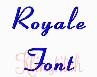 50% Sale!! Royale Embroidery Fonts 4 Sizes Fonts BX Fonts Embroidery Designs PES Fonts Alphabets - Instant Download