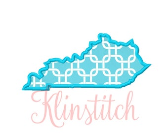 50% Sale!! Kentucky State Applique Designs 9 Sizes Embroidery Designs USA State Outline Embroidery PES Embroidery Designs