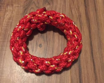 Red Knotted Ring - Large