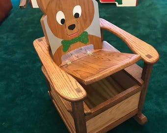 Bear Chair Rocker Toy Box