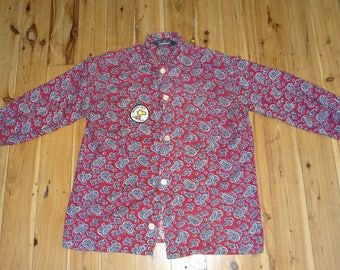 Hipster paisley button up
