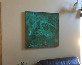 Copper Wall Art-Earthy (32x32)
