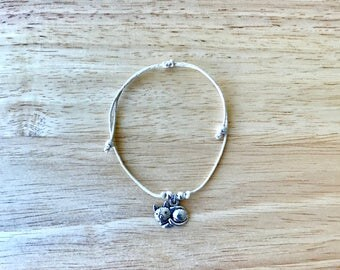 Cat Charm Hemp Bracelet