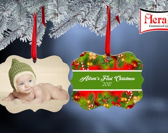 Personalized Ornaments (Benelux Shaped double sided ornament )