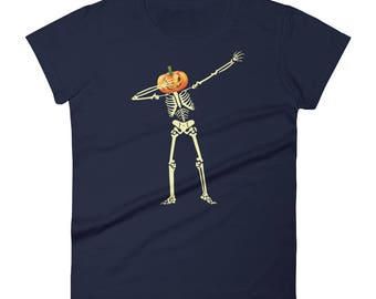 Dabbing-Skeleton Tshirt Women's short sleeve t-shirt