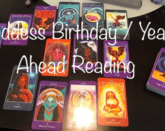 Goddess Birthday / Year Ahead Tarot Reading - Five Dollar Divination