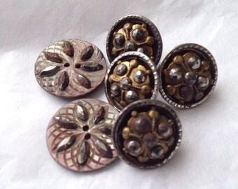 Antique cut steel buttons