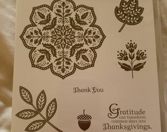 Stampin' Up! Day of Gratitude Set of 7 New Unmounted Stamps