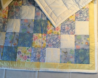 "Handmade Baby Quilt - 37""x33"""