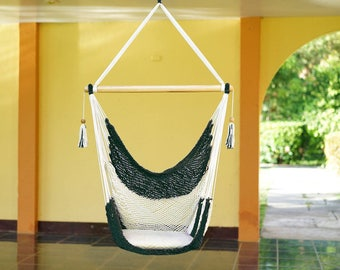 Navy Green Hammock Chair