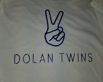 DolanTwins t-shirts white with blue royal