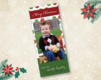 Printable Custom Christmas Card, Holiday Card, 2017