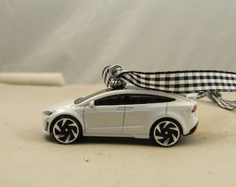 FREE SHIPPING - Christmas Ornament - Tesla Model X - Birthday - Valentines Ornament