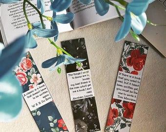 Bookmark: flowers