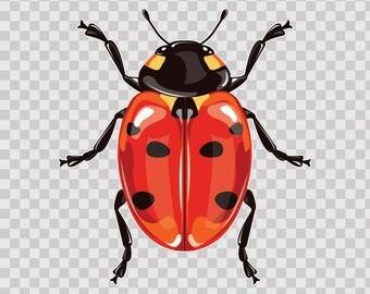 Decals Sticker Ladybug easter Tablet Laptop Durable Sports car 12164