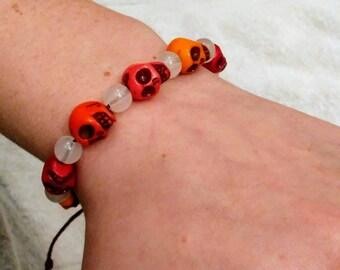 Candy Skull Adjustable Bracelet