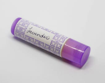 Lavender Lip Balm, All-Natural, Essential Oil, Coconut Oil and Beeswax