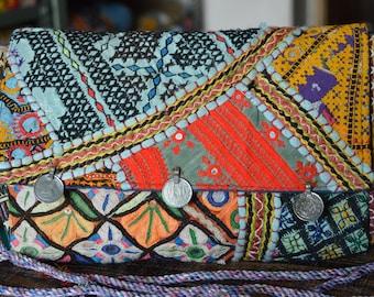Gypsy Clutch Bag Indian Stylish Vintage Banjara Patchwork Tribal Bohemian Purse BB10