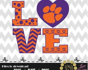 Love Clemson Tigers svg,png,dxf,cricut,silhouette,college,jersey,shirt,proud,birthday,clemson,auburn,cut,university,football,basketball,ncaa