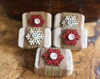 Young Living Essential Oil Peppermint, Lavender & Lemon Butter Soap with Gluten Free Oats