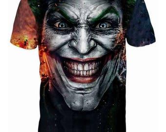 New Unique 3D Cool The Joker Mens T-shirt