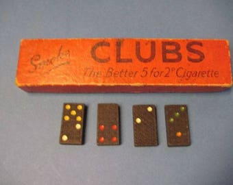 Clubs cigarettes colored dominoes set c.1930