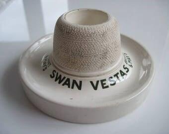 Mintons Swan Vestas Match holder and Striker