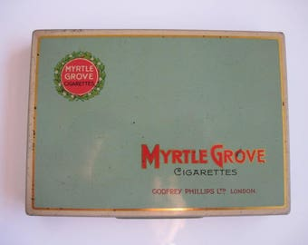 Myrtle Grove cigarette tin (50) by Godfrey Phillips c.1940