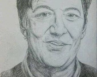 Stephen Fry A4 Drawing