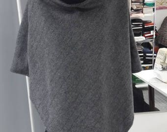 Women's fashion Poncho in wool cloth high quality elegant