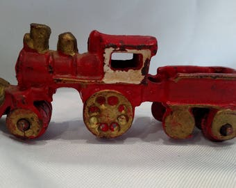 Vintage cast iron train toy