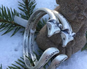 Fox Premium sterling silver bracelet, treatment for arthritis and inflammation