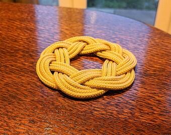 Handmade Cord Coaster in Golden Beige 9cm Rope Coaster