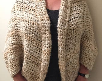 Crochet sweater shrug