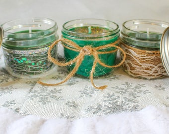 4oz Decorated Candles