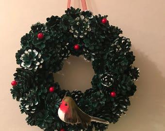 Green robin wreath
