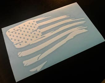 American Flag - Distressed Flag - Flag Decal