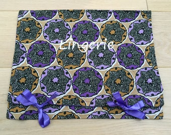 Fabric Pocket pouch lingerie bag for travel bag weekend bag for the holidays, pocket to put in your suitcase