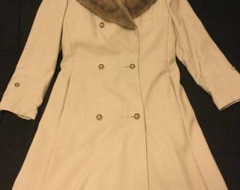 Mink Collar Dress Coat