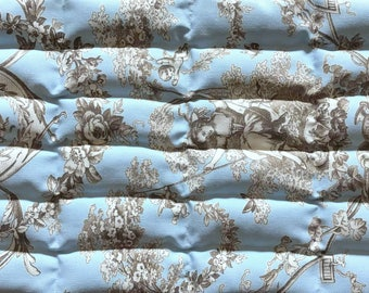 Lavender Flaxseed Heat Pack - Blue Toile du Jouy