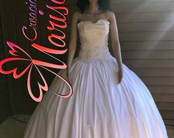 2-Piece wedding dress