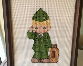 Precious Moments Salute to the Army Counted Cross Stitch