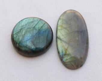 Dual Color Labradorite Gemstone Cabochon, Mix Shape, Blue Mix Color, Pendant Jewelry Gemstone Cabochon, Wire Wrap Jewelry Cab