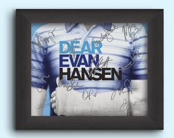DEAR EVAN HANSEN Cast Broadway Musical Signed (Pre-Printed) 8x10 Photo