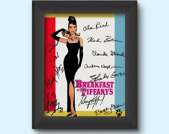 BREAKFAST AT TIFFANYS Audrey Hepburn Pre-Printed Signed 8x10 Photo
