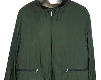 Vintage Moncler Windbreaker Hoodie Jacket/ Full Zipper