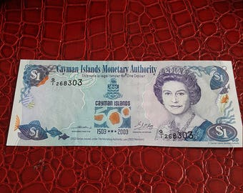 Cayman Islands . Monetary Authority 1 Dollar UNC?