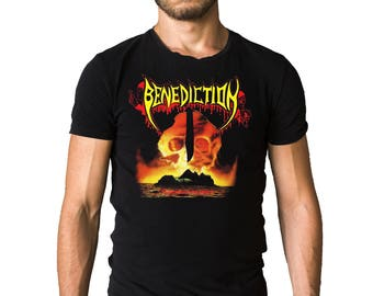 Benediction Subconscious Terror 1990 Album Cover Black T-Shirt
