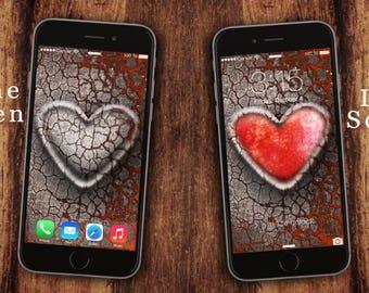 Heart wallapaper iphone, heart stone wallpaper iphone, samsung galaxy, mobile phone, screensaver, lockscreen, home screen, digital wallpaper