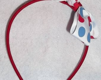 Boutique Bow, Girls Hair Bows, Big Bow, Stacked Boutique, Fancy hairbow, 4th of July,  Red, White, Blue, Girl Hair bow, Large Bow